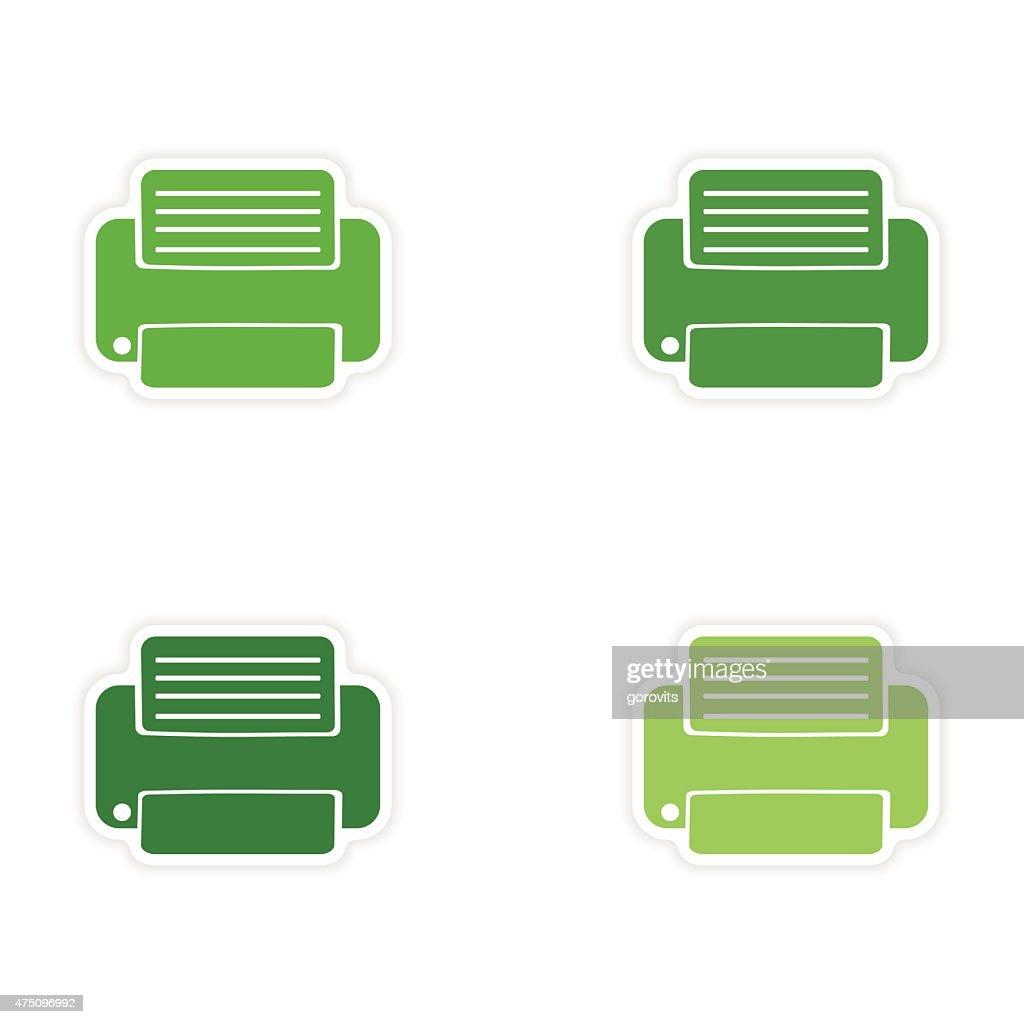 Montage Realistische Aufkleber Design Auf Papier Drucker
