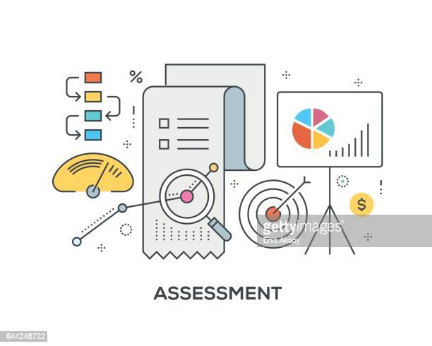 Assessment Concept with icons