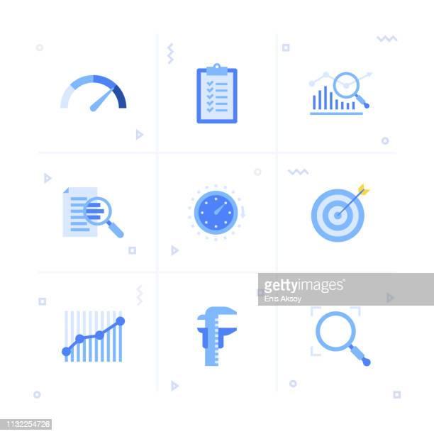 bewertung icon set - schieblehre stock-grafiken, -clipart, -cartoons und -symbole