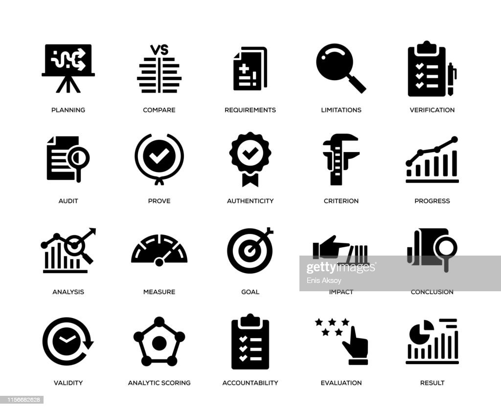Assessment Icon Set : Stock Illustration