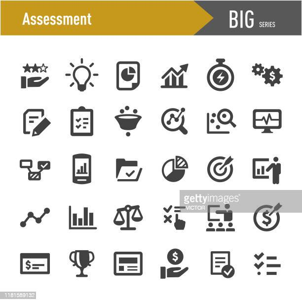 assessment icons - big series - rating stock illustrations