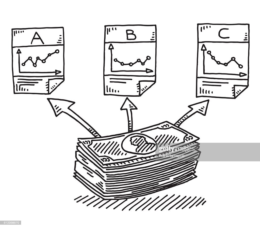 Asset Allocation Finance Investment Drawing : stock illustration