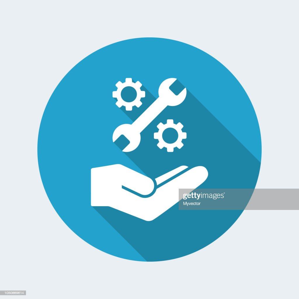 Assistance service - flat minimal icon