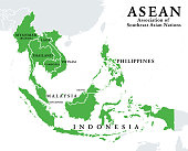 ASEAN, Association of Southeast Asian Nations, member states, infographic
