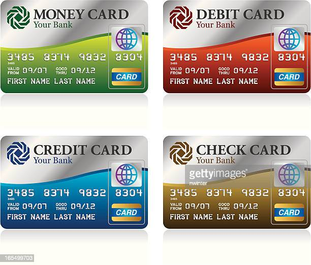Assorted bank cards