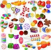 Assorted colorful Candy Collection