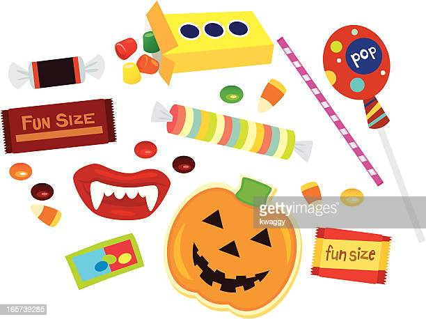 Assorted fun size Halloween candy