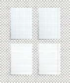 Assorted paper sheets. Vector illustration.