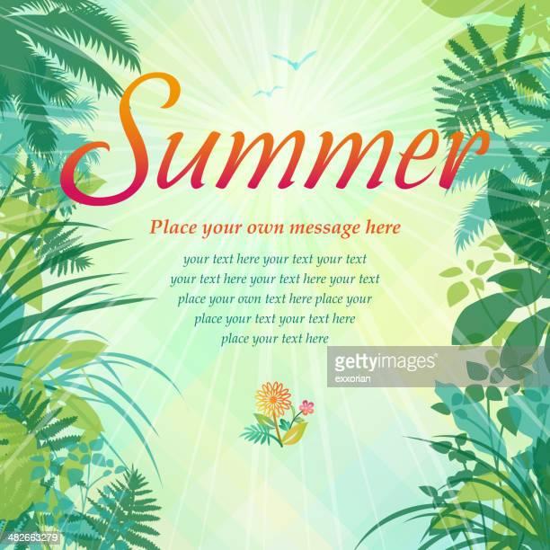 assorted plants frame background - safari stock illustrations, clip art, cartoons, & icons
