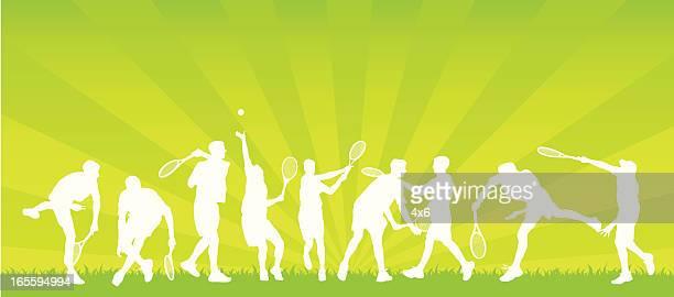 Verschiedene tennis player