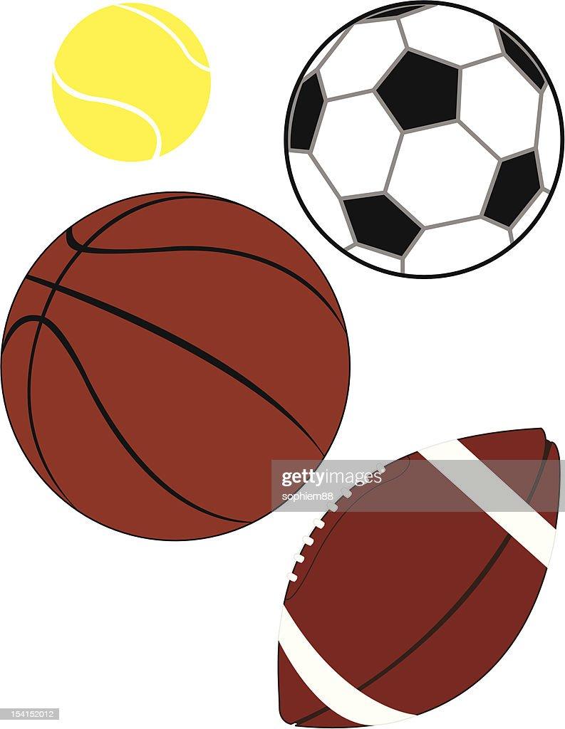 Assortment of sports balls
