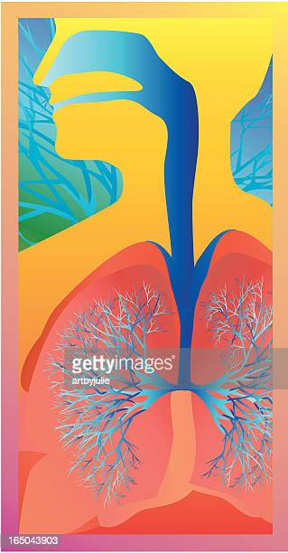 asthma icon - human lung stock illustrations, clip art, cartoons, & icons