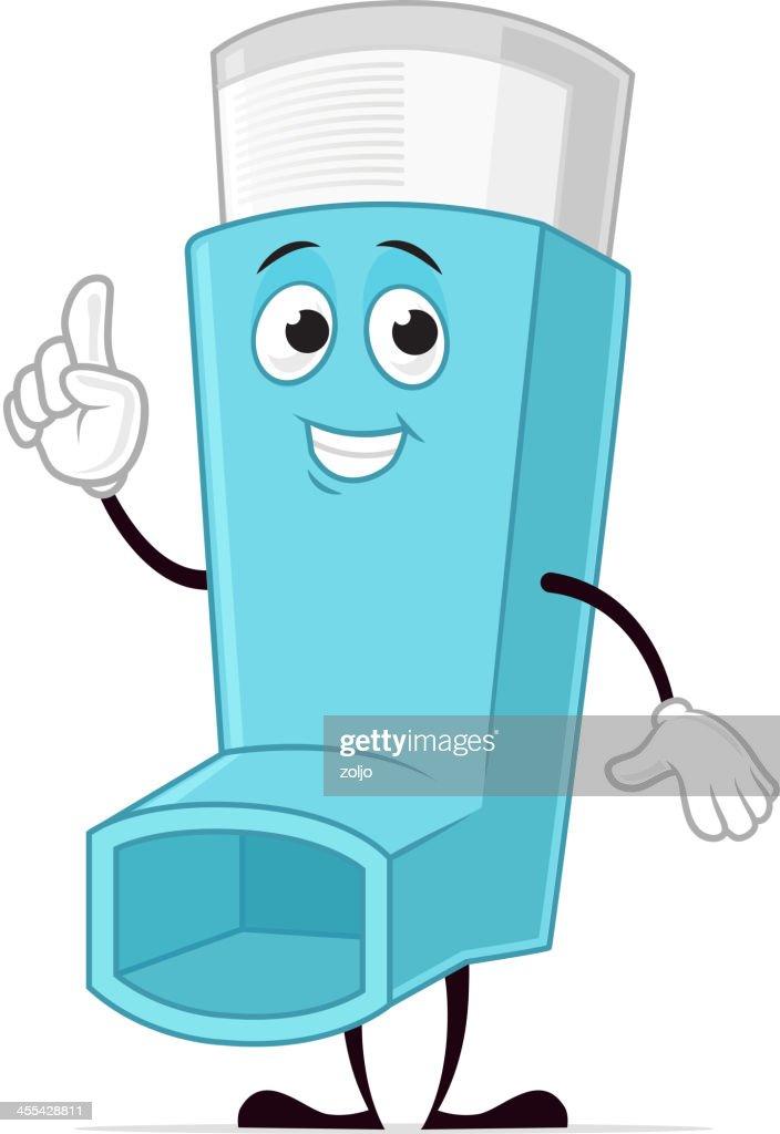 Asthma inhaler character