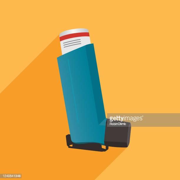 asthma inhaler icon - asthmatic stock illustrations
