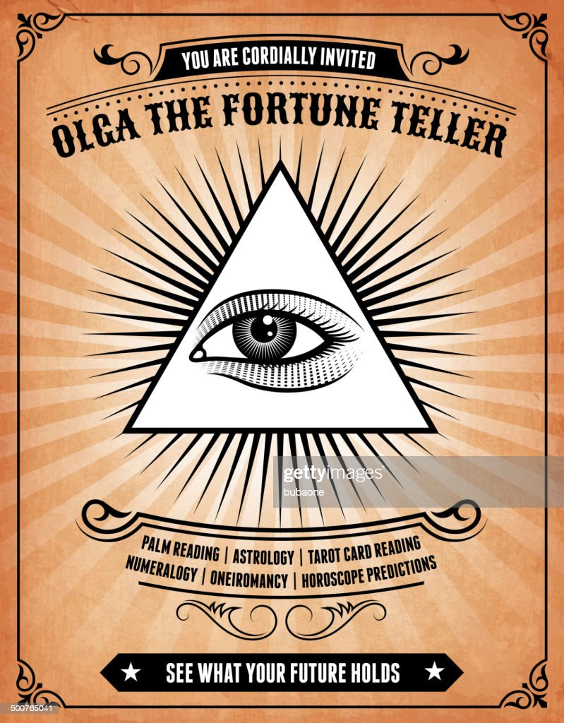 Astrology Fortune Teller On Royalty Free Vector Background