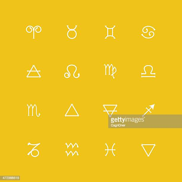 astrology icons - fortune telling stock illustrations