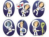 Astronaut action set