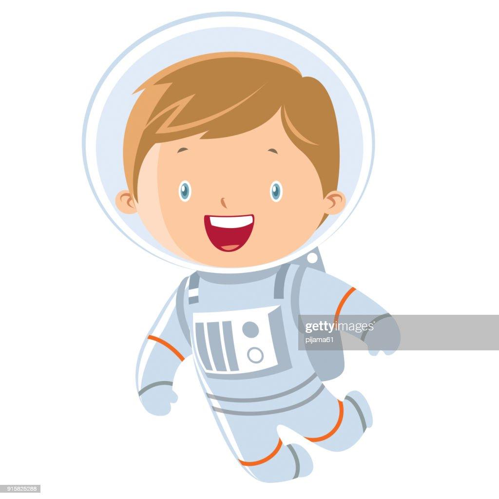 astronaut boy : stock illustration