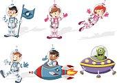 Astronaut cartoon characters