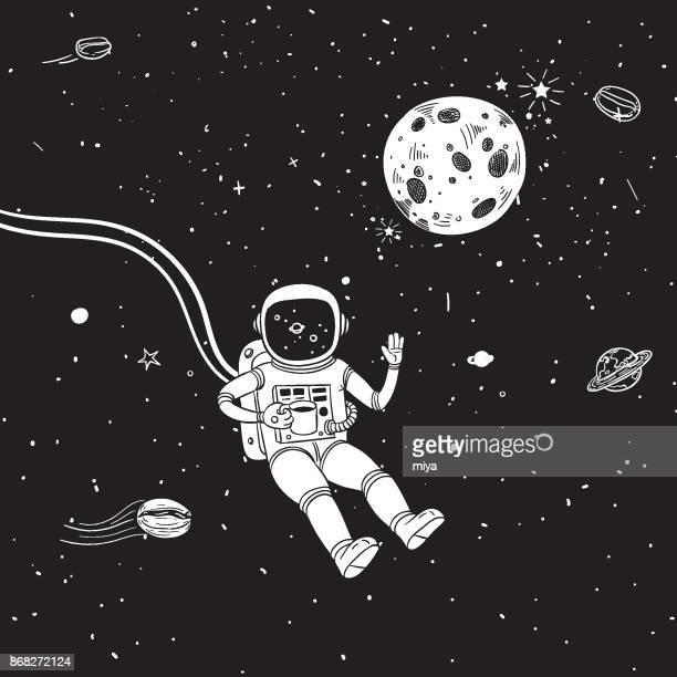 Astronaut - Coffee stop - Illustration