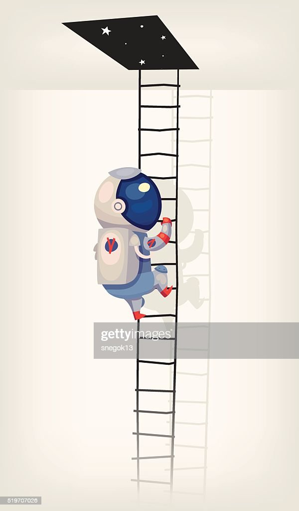 Astronaut going in outer space