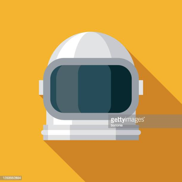 astronaut helmet science fiction icon - space suit stock illustrations