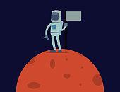 Astronaut in space vector character having fun spaceman galaxy cosmos atmosphere astronautics system fantasy traveler man