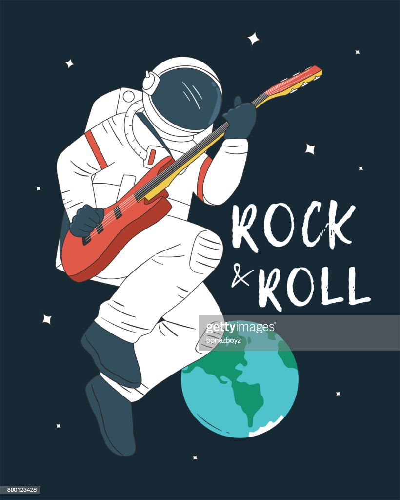 Astronaut Playing Guitar