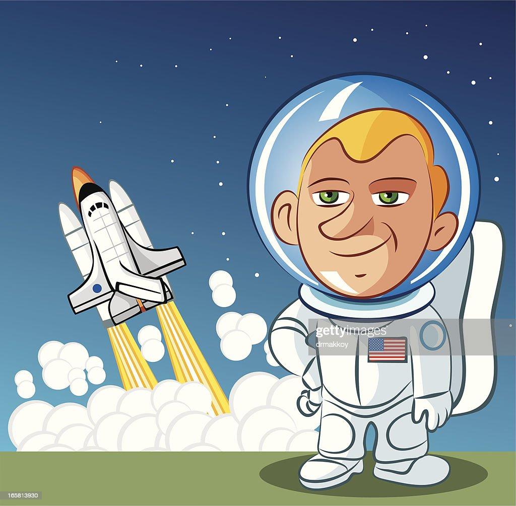 Astronaut : Stock Illustration