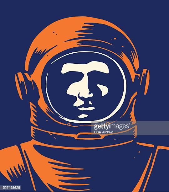 ilustrações de stock, clip art, desenhos animados e ícones de astronauta - astronauta