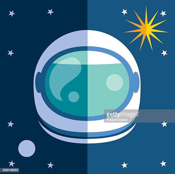 astronaut - space helmet stock illustrations