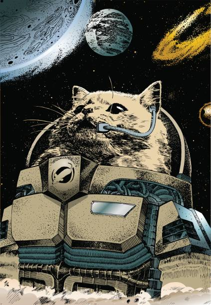 astronaut - fantasy stock illustrations