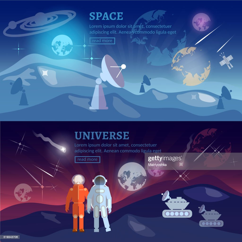 Astronauts space program banner