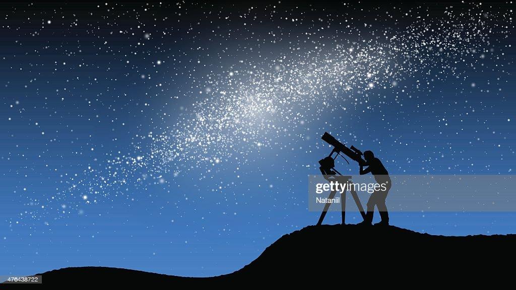 Astronomical observations : stock illustration