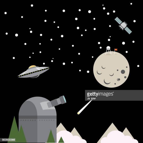 ilustraciones, imágenes clip art, dibujos animados e iconos de stock de ilustración de astronomía - galaxia espiral