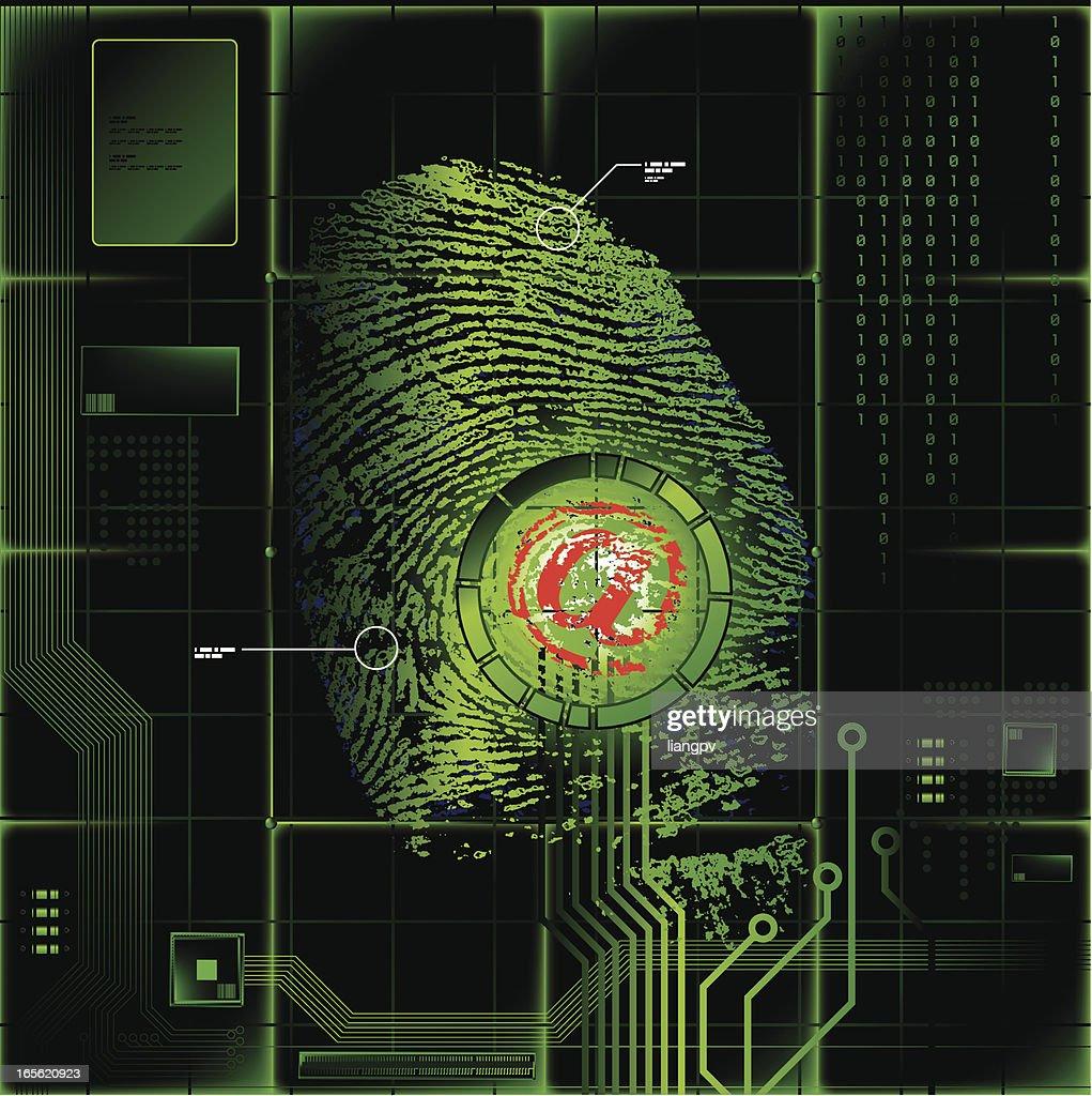 'At' Symbol on Fingerprint