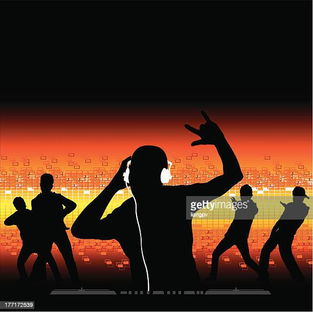 ilustrações de stock, clip art, desenhos animados e ícones de dj de gira-discos - hip hop