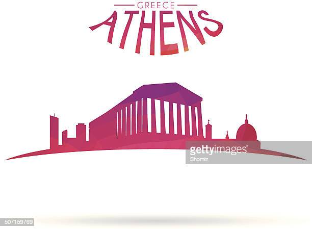athens modern cityscape - athens greece stock illustrations