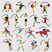 Athletes. Vector illustration