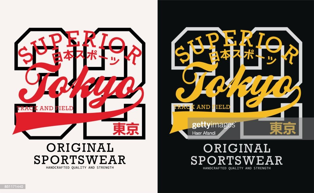 athletic Japan Typography design, vector