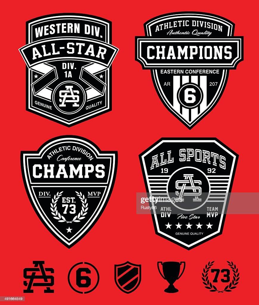 Athletic patch emblems