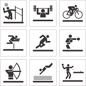 Athletic Pictogram Icons