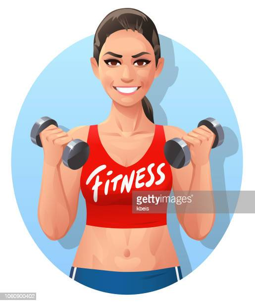 athletic young woman- fitness logo - abdominal muscle stock illustrations, clip art, cartoons, & icons