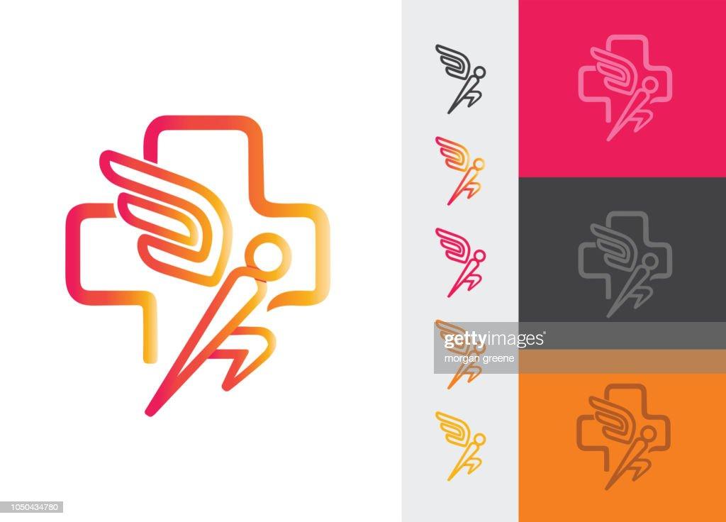 Athletics Icon With Wings Icon Symbol