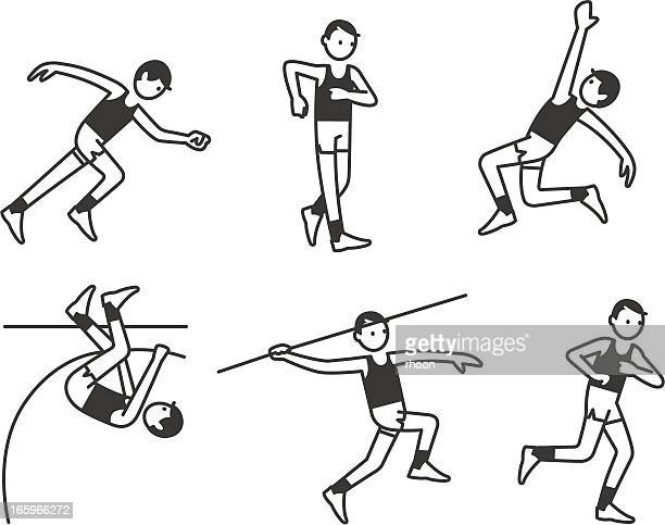 athletics men - racewalking stock illustrations, clip art, cartoons, & icons