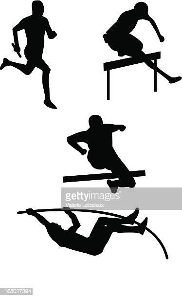 athletics - racewalking stock illustrations, clip art, cartoons, & icons