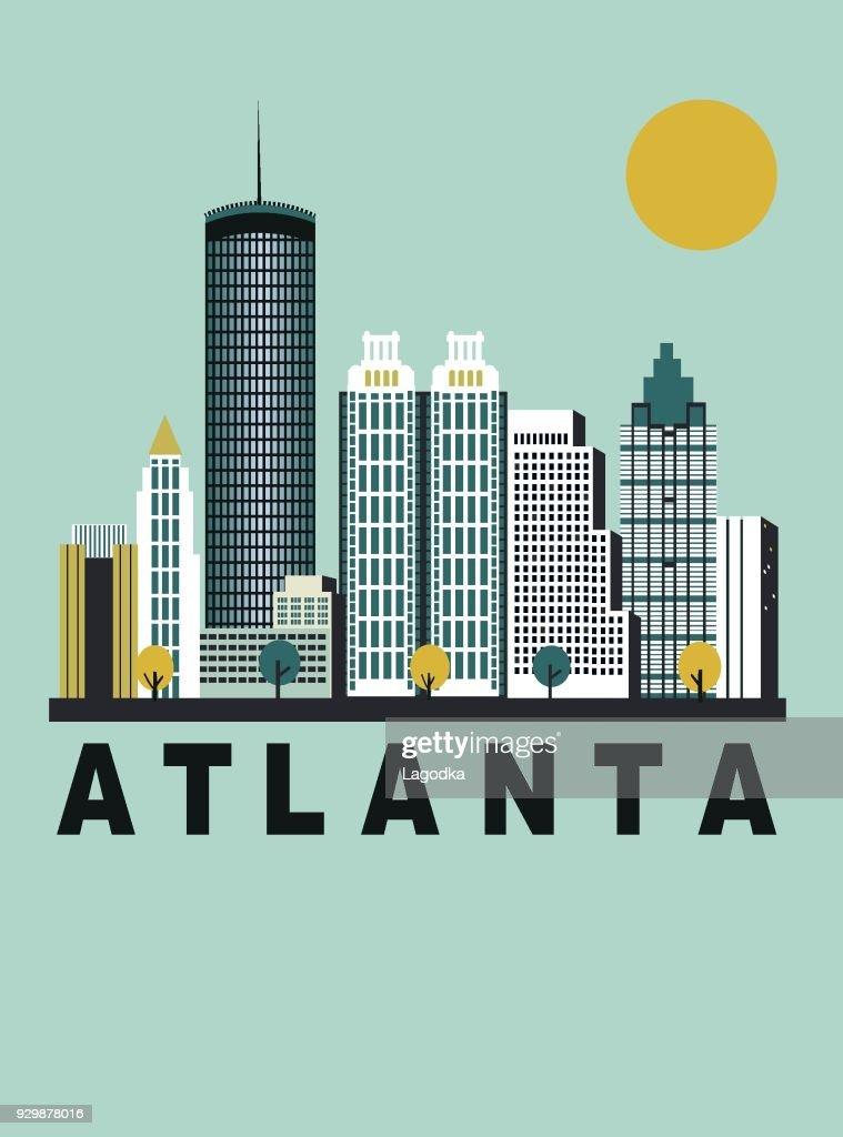 Atlanta city in Georgia USA