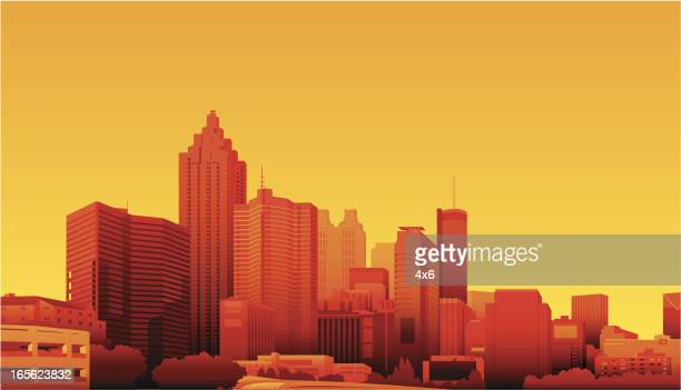 atlanta, georgia - atlanta stock illustrations, clip art, cartoons, & icons