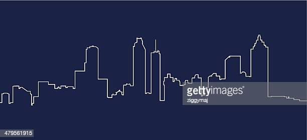 atlanta skyline - atlanta stock illustrations, clip art, cartoons, & icons