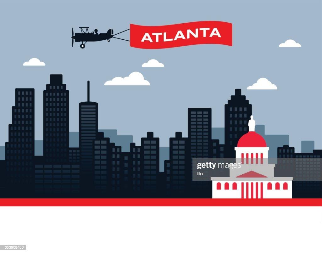 Atlanta Skyline : stock illustration